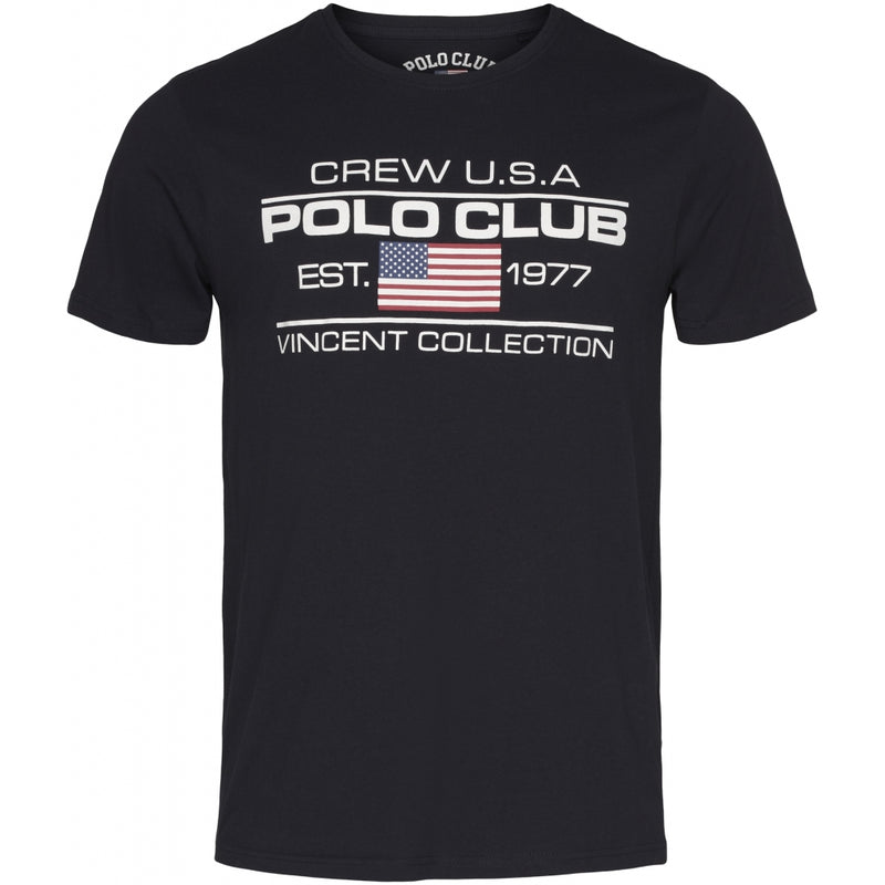 Vincent Polo Club Vincent Polo Club herre t-shirt Fort Collins T-shirt Navy