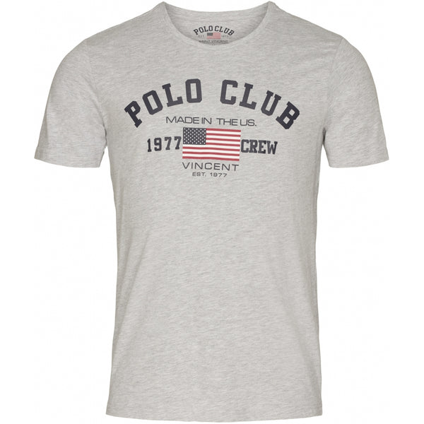 Vincent Polo Club Vincent Polo Club herre t-shirt mesa T-shirt Grey