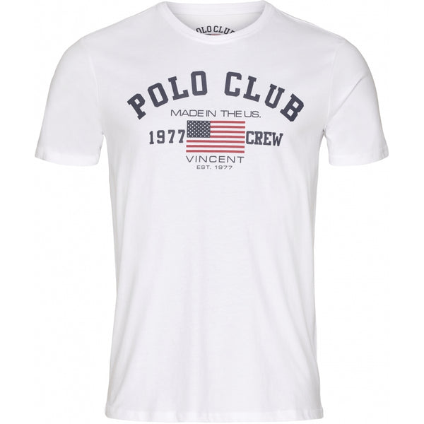 Vincent Polo Club Vincent Polo Club herre t-shirt mesa T-shirt White