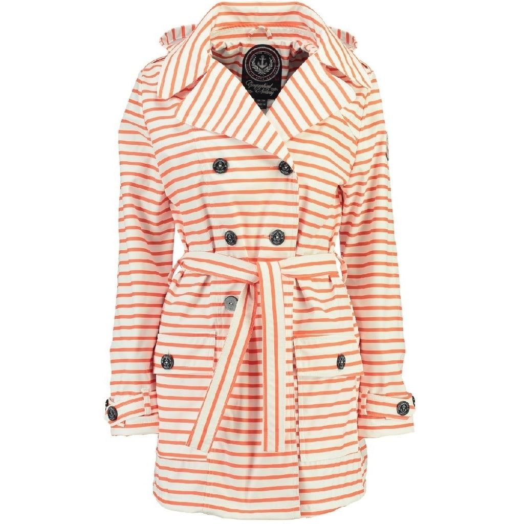 Image of   GEOGRAPHICAL NORWAY forårs jakke Dame CRAQUANTE - Coral/White - L