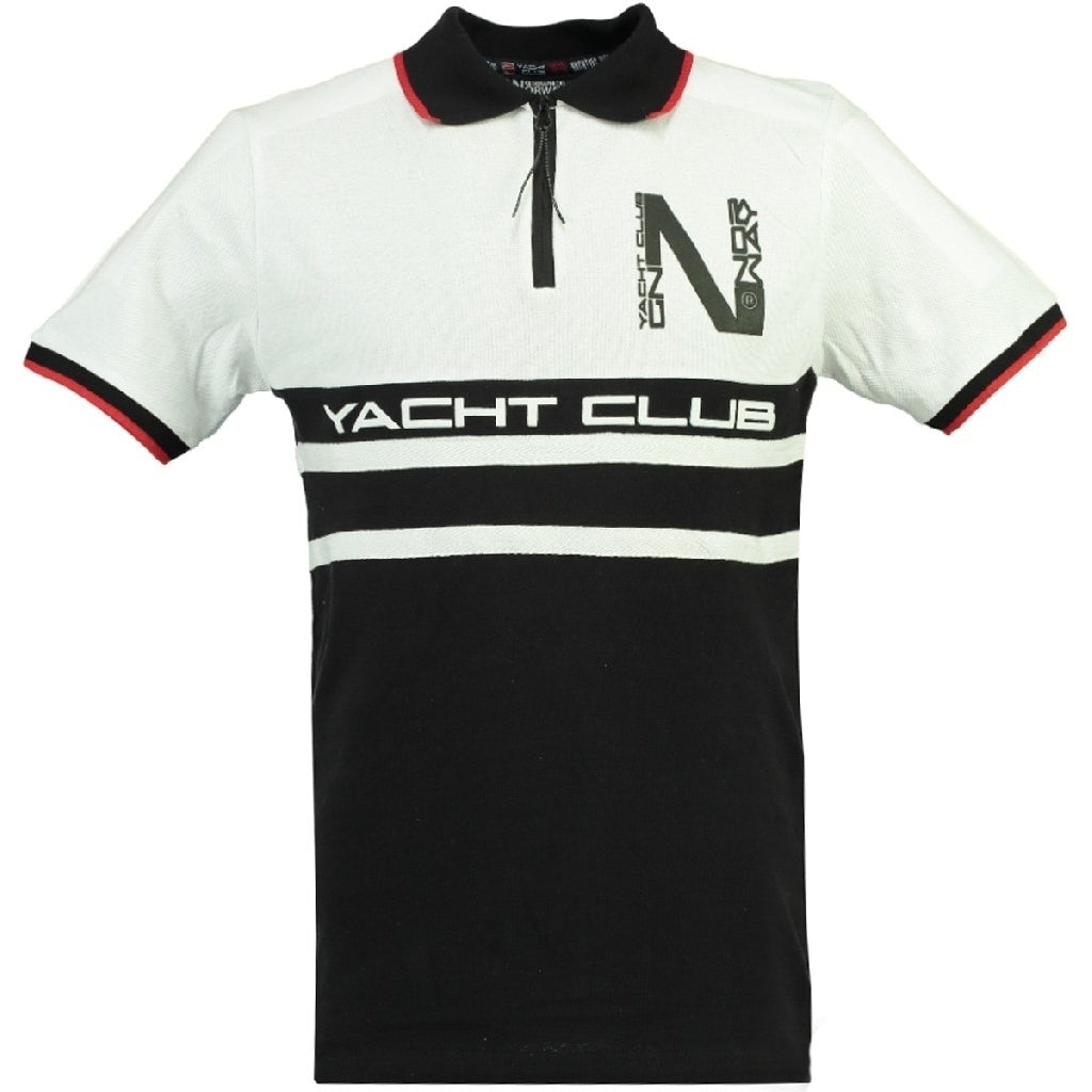 Image of   GEOGRAPHICAL NORWAY POLO Herre KAILS - Black - White - XXL