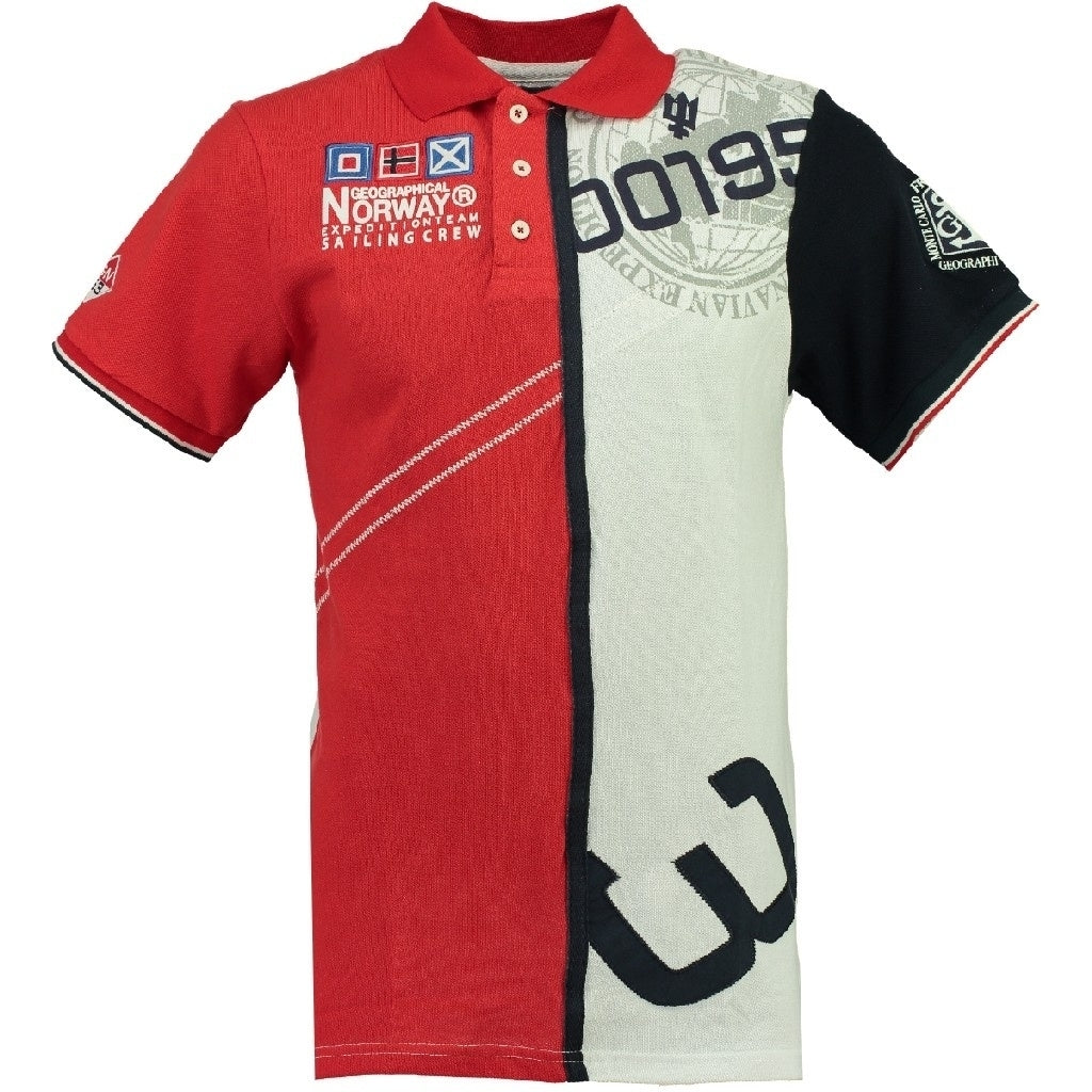 Image of   GEOGRAPHICAL NORWAY POLO Herre KAPCODE - Red/White - XL