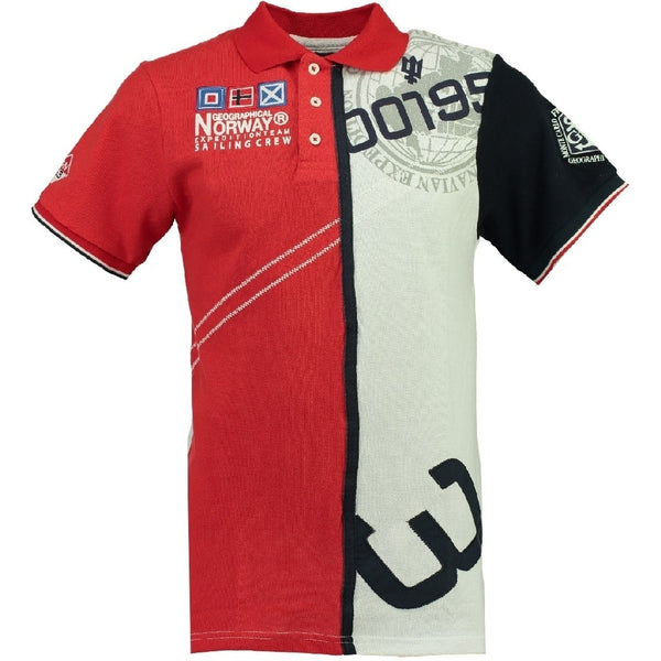 Geographical Norway GEOGRAPHICAL NORWAY POLO Herre KAPCODE Polo Red/White