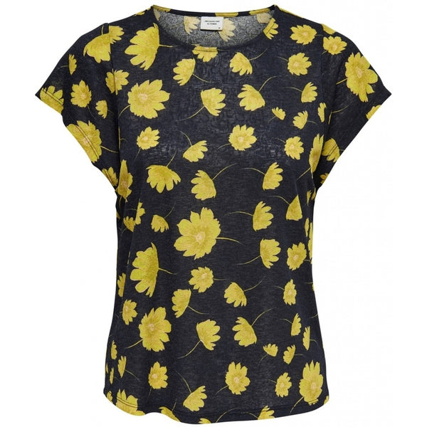 Jacqueline De Yong JDY Stockholm SS Top Top Navy/Yellow