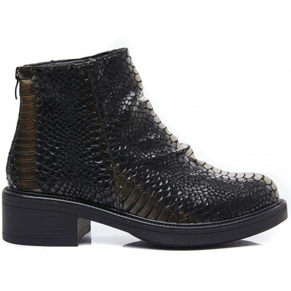 Shoes Ideal shoes dame støvle 1900 Shoes Black/gold
