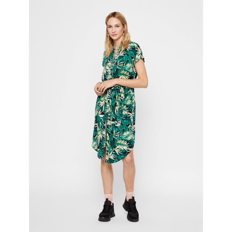 PIECES Pieces dame kjole PCNYA Dress Black/green