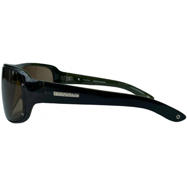 Tex-Time Barito Design Of Copenhagen Dame Solbrille Sunglasses Pilgrim 717-100 black/green
