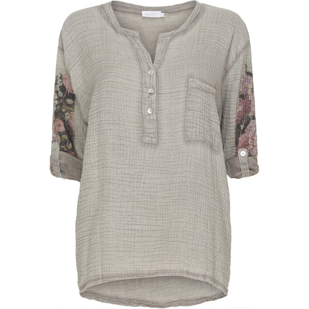 Image of   Bluse med blomster - Fango