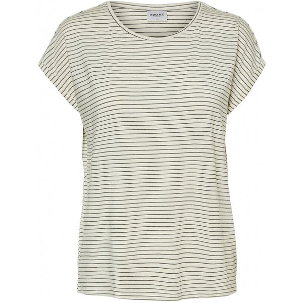 Vero Moda Vero Moda dame tee VMAVA T-Shirt/top snow white rebecca black