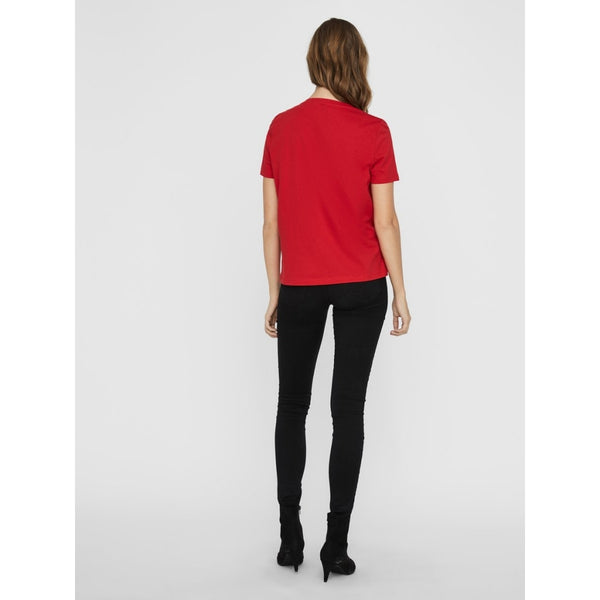 Vero Moda Vero Moda dame t-shirt VMXMASOLLY T-Shirt/top Red