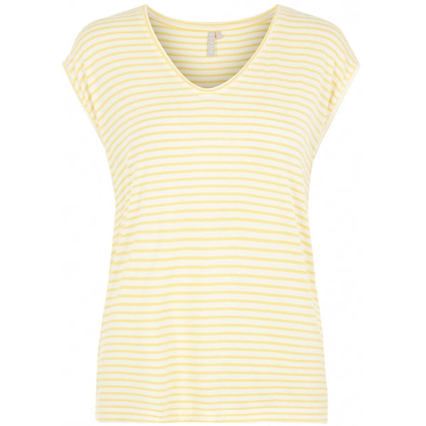 PIECES Pieces dame top PCBILLO T-Shirt/top White -Yellow