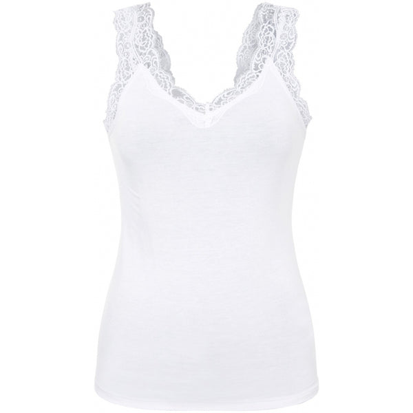PIECES Pieces dame top PCBARBERA T-Shirt/top Bright white
