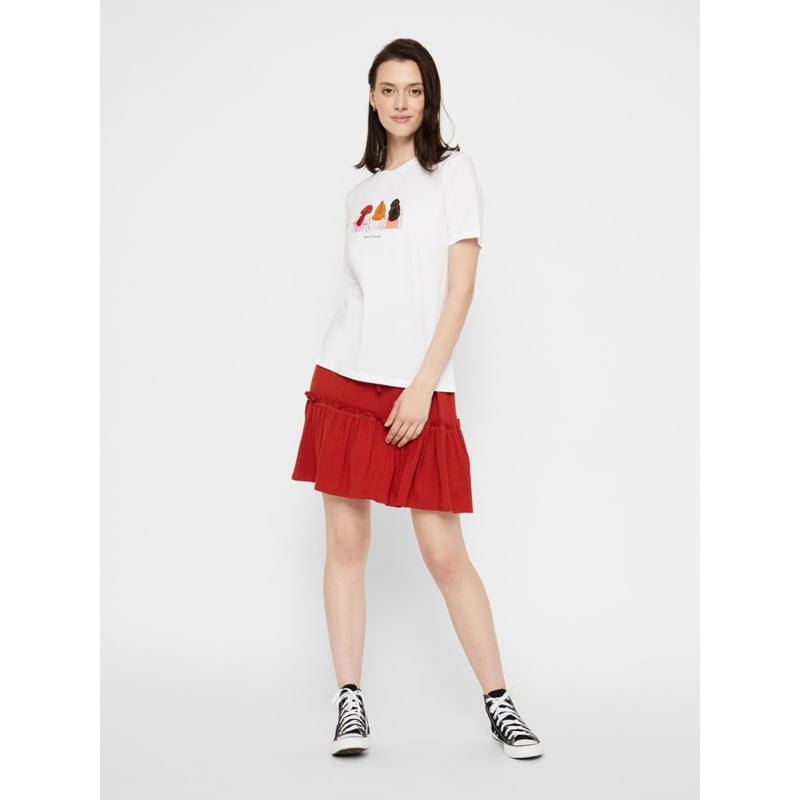 PIECES Pieces dame tee PCBESTFRIEND T-Shirt/top White
