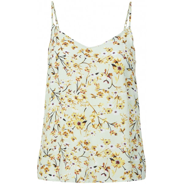 PIECES Pieces dame top PCSUNNY T-Shirt/top pastel green flowers