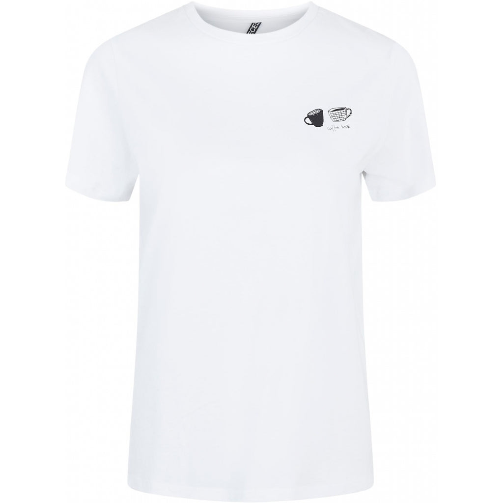 Pieces dame tee PCLIWY - Bright white