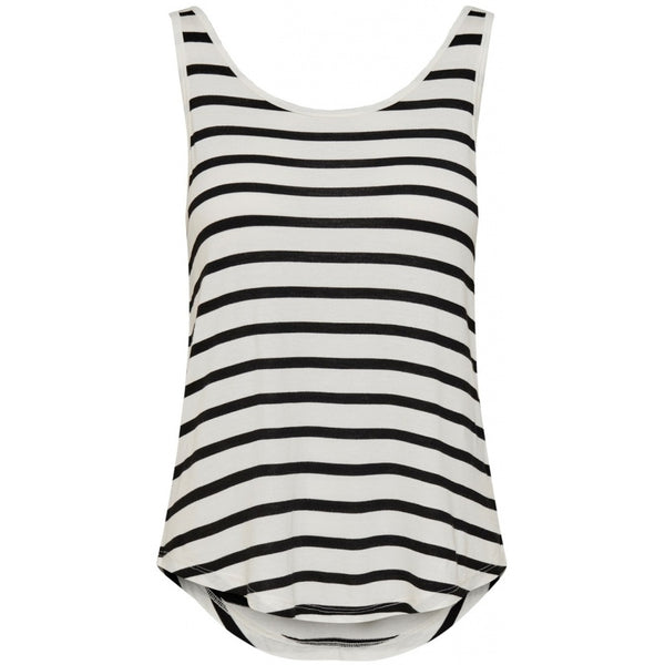 ONLY Only dame tanktop ONLWILMA Top Black/white
