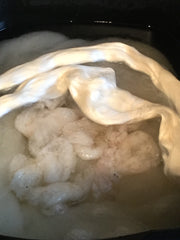 Natural fleece / fibre / fiber in slow cooker