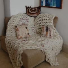 Luxury Chunky Hand Knitted Throw