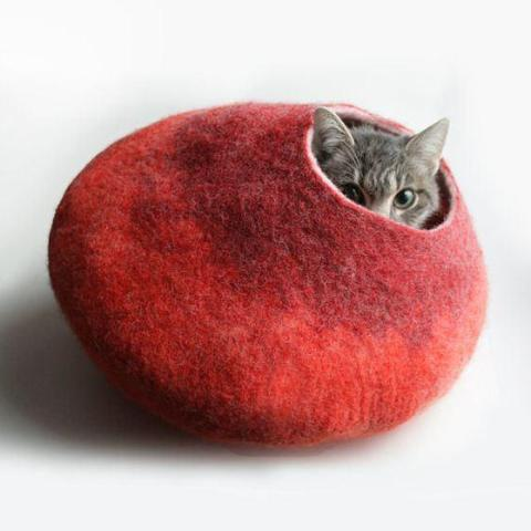 Unique Felted Pet Cave!