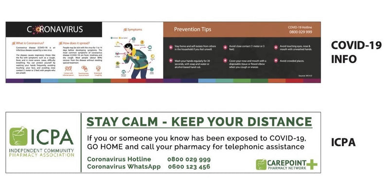 Counter Shield - Branded with Coronavirus Prevention Tips