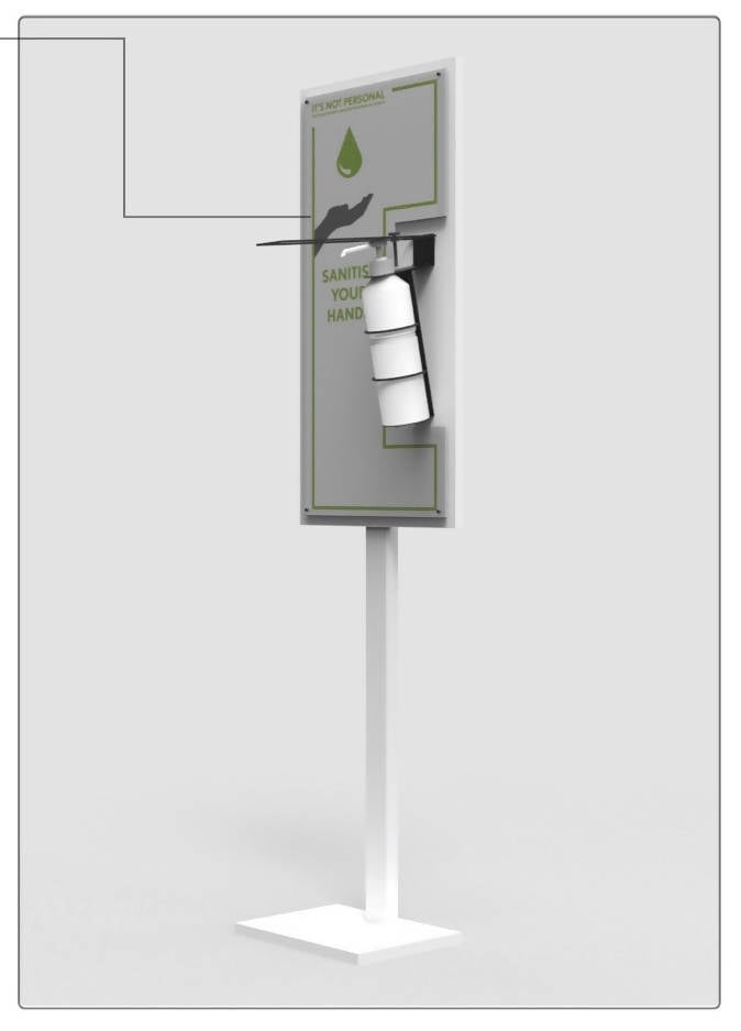 Sanitizing Station - Free Standing, Elbow Operated