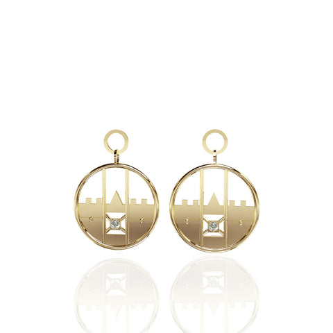 Yellow Gold Vermeil Drop Earrings