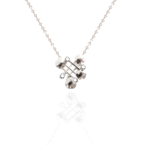 Classic Sterling Silver Necklace with White Topaz