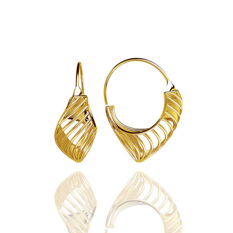Yellow Gold Vermeil Classic Hoop Earrings