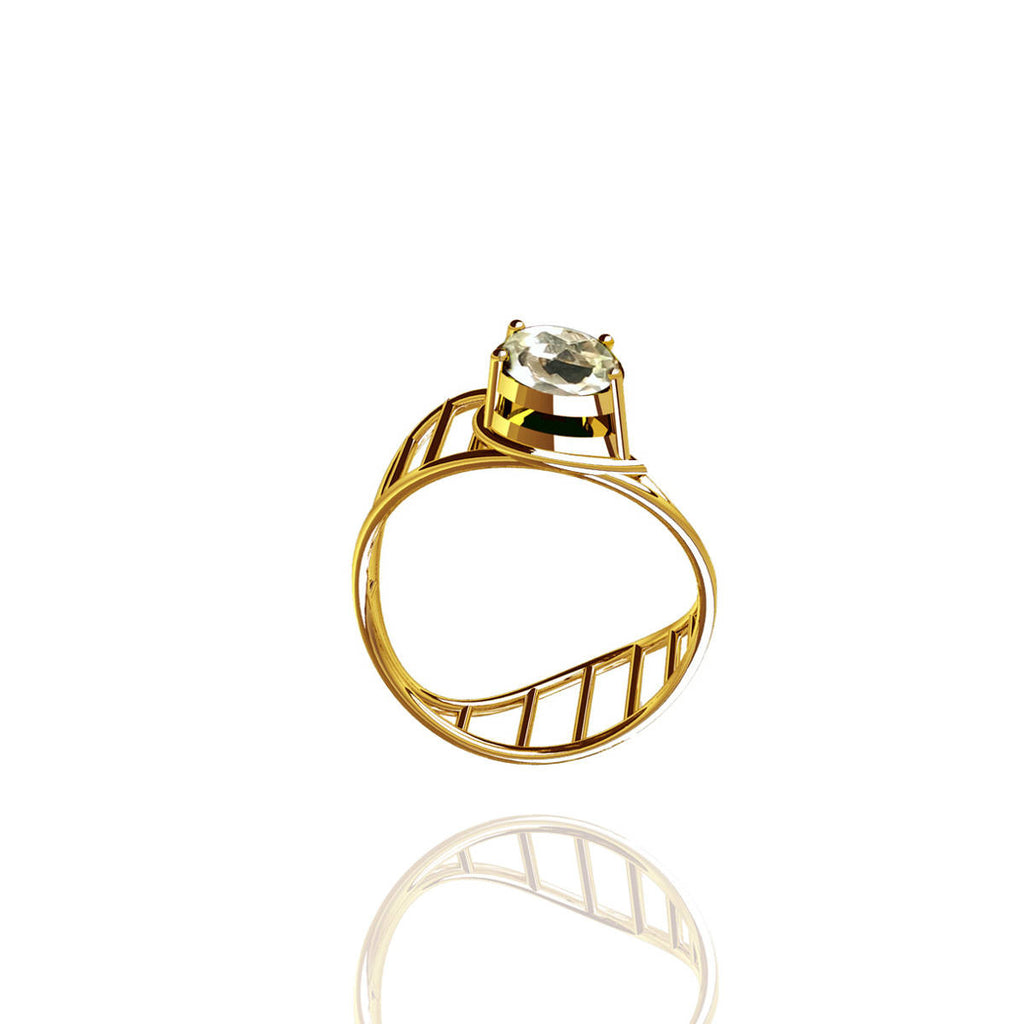 Yellow Gold Vermeil Elegance Ring