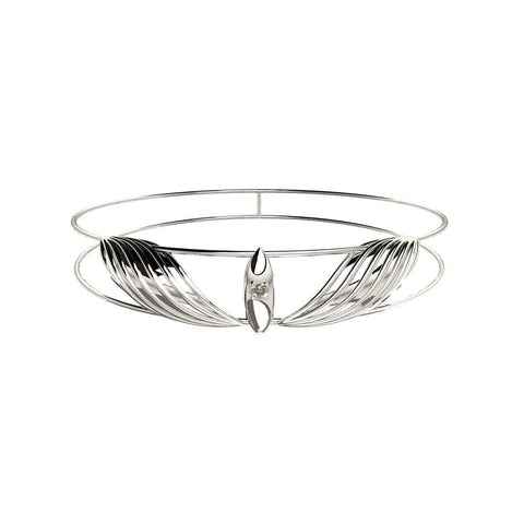 Sterling Silver Classic Diamond Bangle