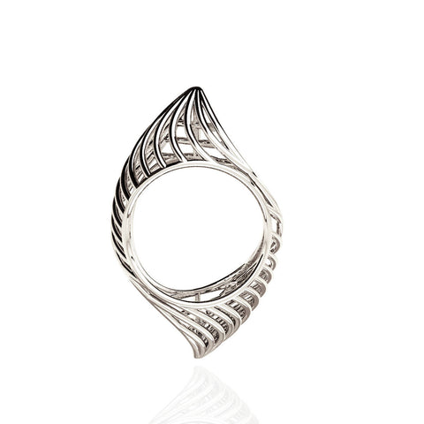 18ct White Gold Classic Piped Ring