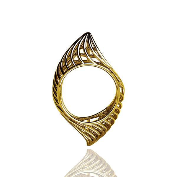18ct Yellow Gold Classic Piped Ring
