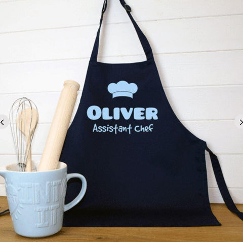 Personalised Children's Assistant Chef Apron