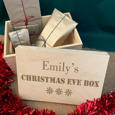 Personalised Christmas Eve Wooden Keepsake Box