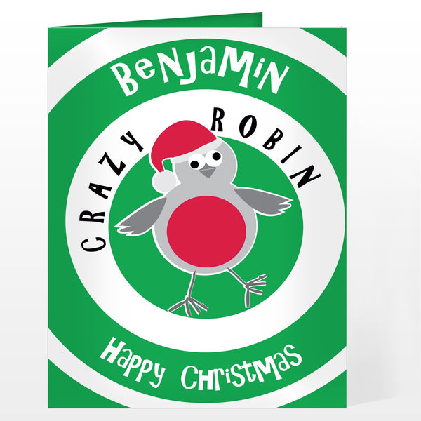 Personalised Crazy Robin Card