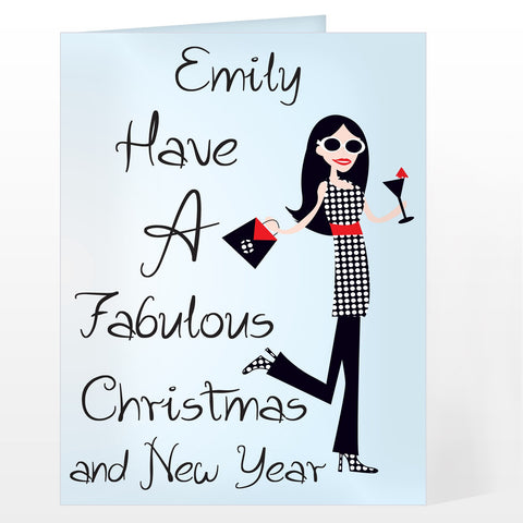 Personalised Fabulous Christmas Card