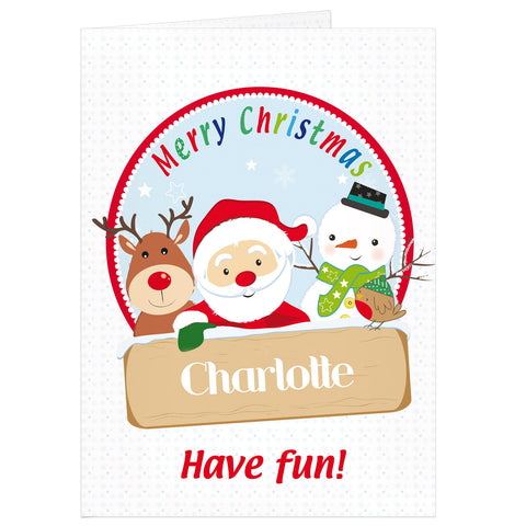 Personalised Santa & Friends Card