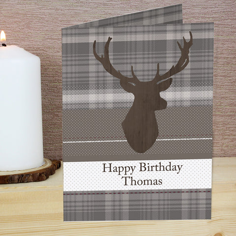 Personalised Highland Stag Card