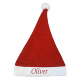 Personalised Embroidered Christmas Red & White Xmas Hat - Personalised Christmas
