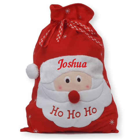 Luxury Personalised Embroidered Christmas Jumbo Xmas Character Santa Sacks - Personalised Christmas