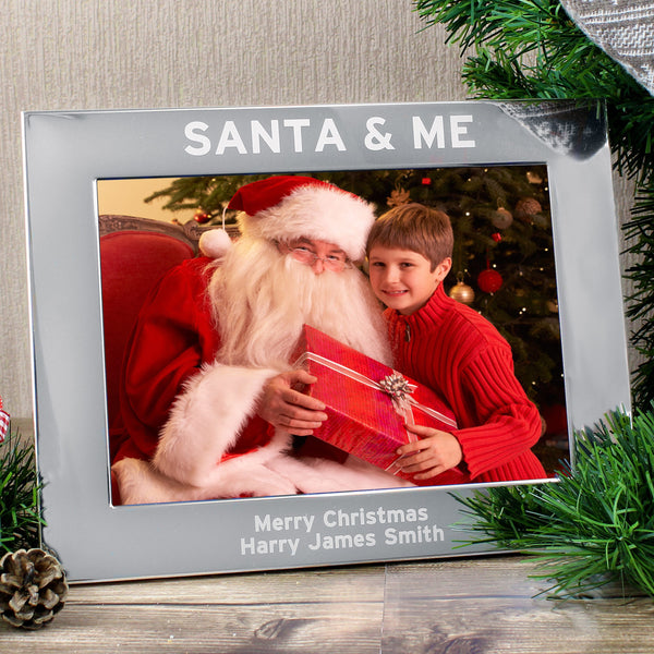 Personalised Santa & Me 5x7 Landscape Photo Frame