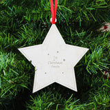 Personalised 1st Christmas Star Tree Decoration