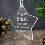 Personalised Acrylic Star Decoration - Personalised Christmas