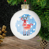 Personalised Red Nose Reindeer Bauble