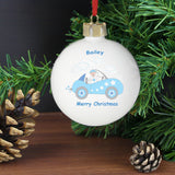 Personalised Little Monkey in Car Bauble