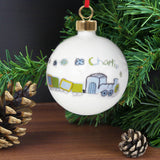 Personalised Patchwork Train Bauble