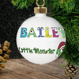 Personalised Little Monster Bauble
