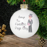 Personalised Fabulous Pageboy Bauble