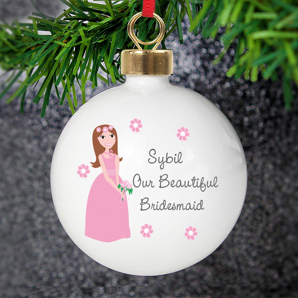Personalised Fabulous Bridesmaid Bauble