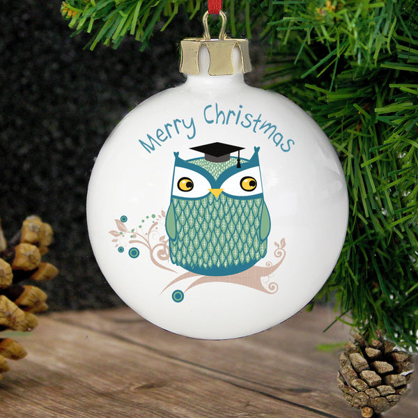 Personalised Mr Owl Bauble